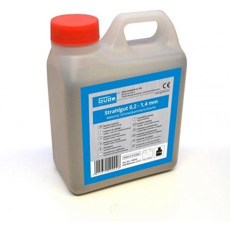 Tryskací materiál 1,5 kg,0,2 - 1,4 mm Güde