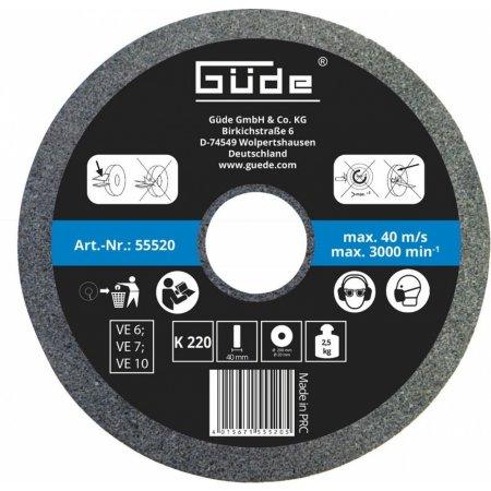 Brusný kotouč pro mokré broušení Güde 200 x 40 x 20 mm/K220